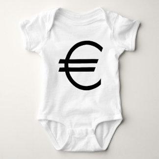 black euro sign baby bodysuit