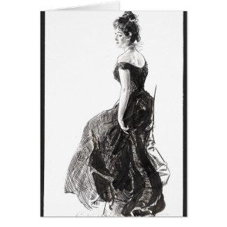 Black Evening Dress 1901 Card