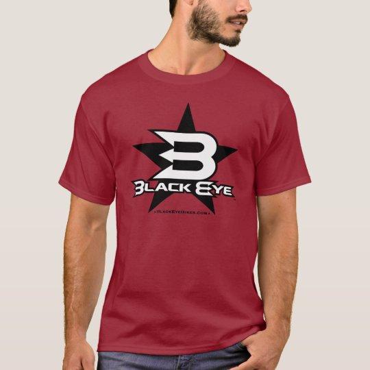 Black Eye Bikes Star - Black / White T-Shirt