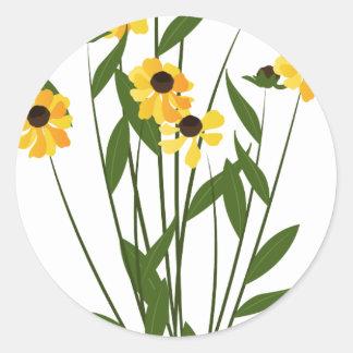 Black eye Susan flower Classic Round Sticker