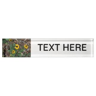 black eye susan flowers pretty field yellow flower nameplate