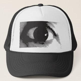 black eye trucker hat
