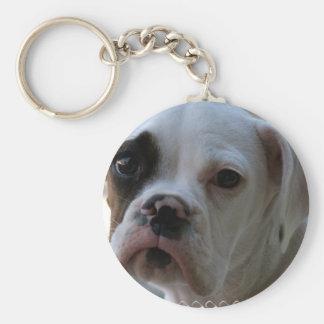 Black Eyed Boxer Dog Keychain