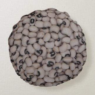 Black eyed peas round pillow