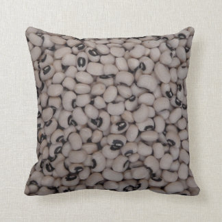 Black eyed peas throw pillow