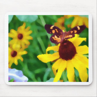 Black Eyed Susan and Butterfly-PhotoArt Mouse Pad