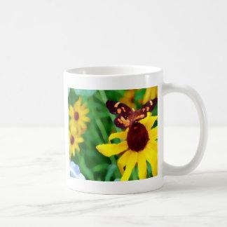 Black Eyed Susan and Butterfly-PhotoArt Coffee Mugs
