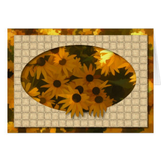 Black Eyed Susan Birthday Card (Large Print)