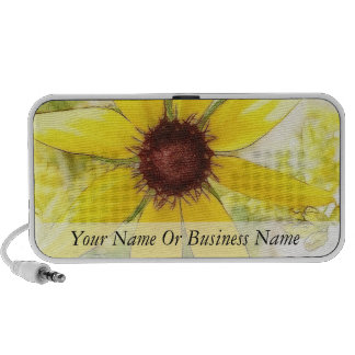 Black Eyed Susan Bouquet Travelling Speakers