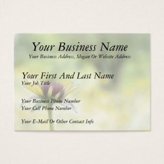 Black Eyed Susan Bud And The Old Oak Business Card