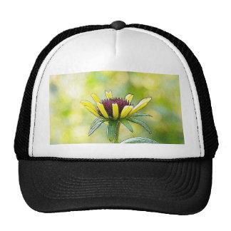 Black Eyed Susan Bud In Profile Trucker Hat