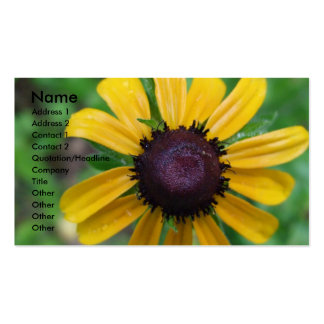Black Eyed Susan Business Card Template