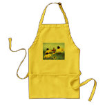 black-eyed susan & butterfly apron