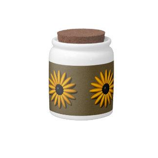 Black-Eyed Susan Candy Jar