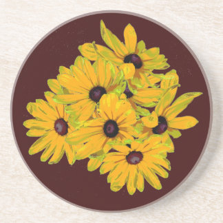Black-eyed Susan Drink Coasters