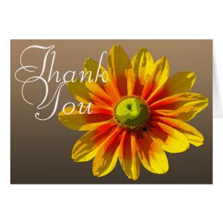 Black-Eyed Susan Color Photo Chic Floral Thank You Card