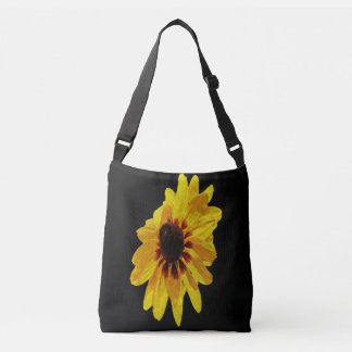 Black Eyed Susan cross body allover print bag tote