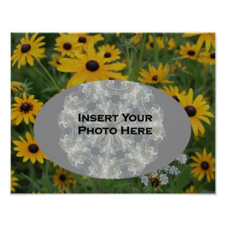 Black Eyed Susan Daisy Your Photo Poster