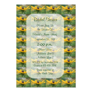 Black Eyed Susan Floral Bridal Shower Invite