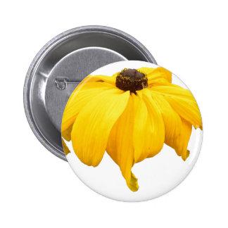 Black Eyed Susan Flower 2 Inch Round Button