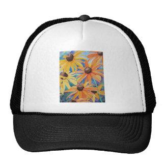 Black Eyed Susan Flower Watercolor Painting Hats