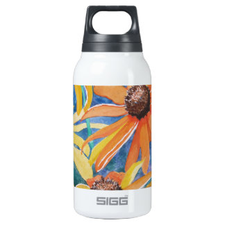 Black Eyed Susan Flower Watercolor Painting Insulated Water Bottle