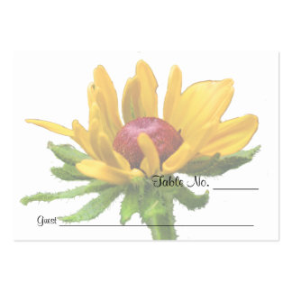 Black Eyed Susan Flower Wedding Table Place Cards Business Card Template