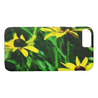 Black Eyed Susan Flowers Abstract Impressionism iPhone 8/7 Case