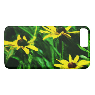 Black Eyed Susan Flowers Abstract Impressionism iPhone 8 Plus/7 Plus Case