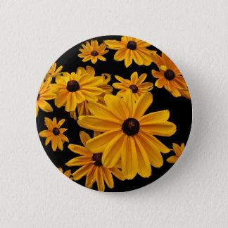 Black Eyed Susan Flowers Floral Button