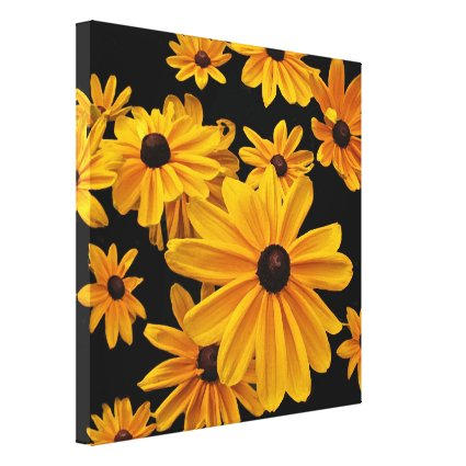 Black-eyed Susan Flowers Floral Canvas Print
