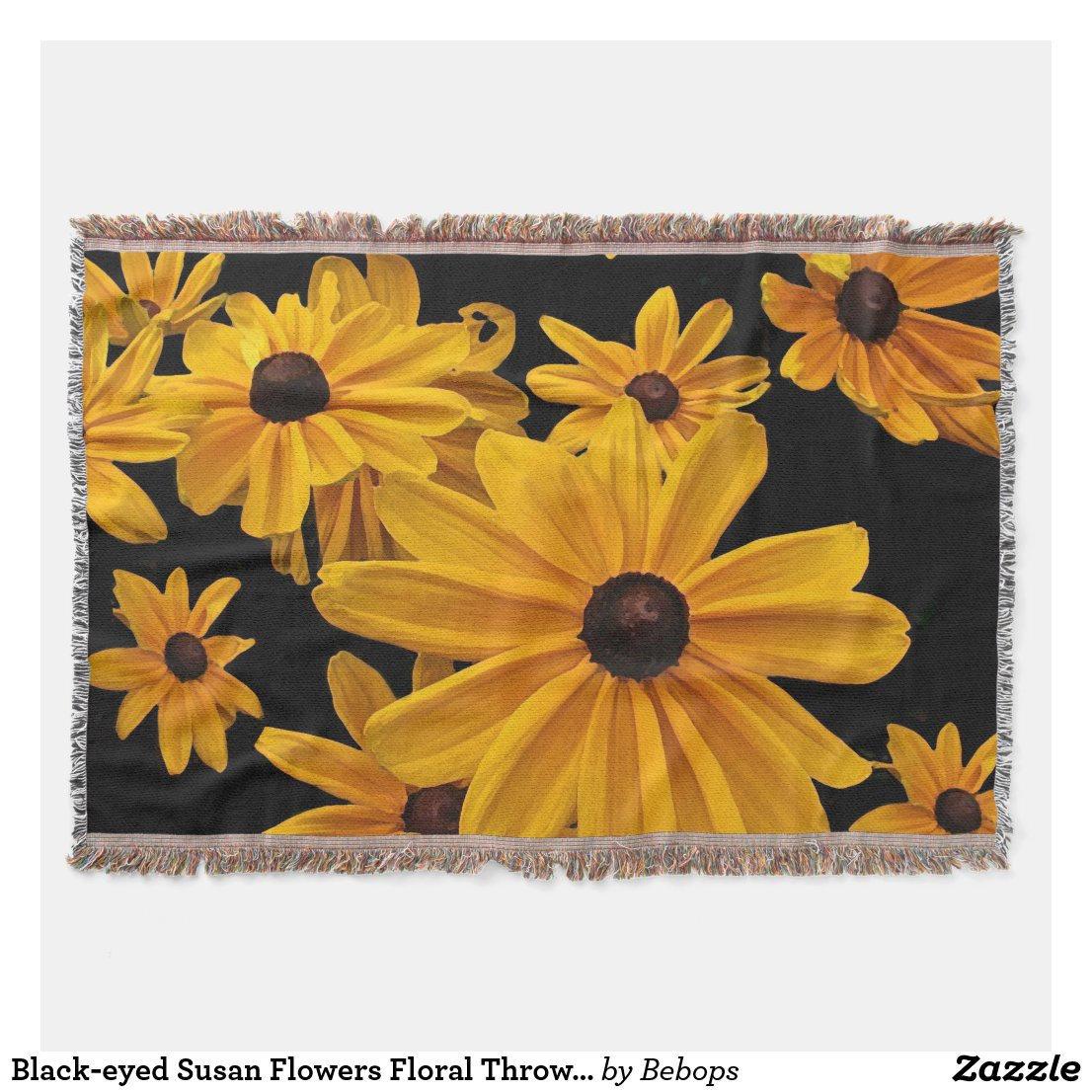 Black-eyed Susan Flowers Floral Throw Blanket