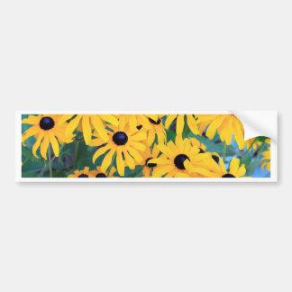 Black Eyed Susan Flowers in Deep Yellow Bumper Sticker
