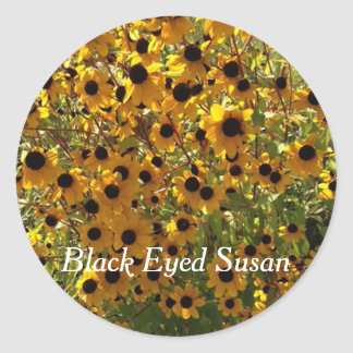 Black Eyed Susan Flowers Photo Your Text Stickers