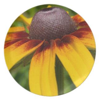 Black Eyed Susan Flowers Plate