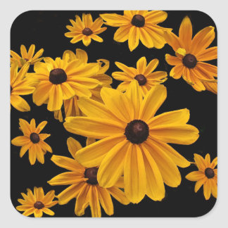 Black Eyed Susan Flowers Yellow Floral Stickers