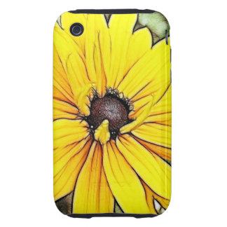 Black Eyed Susan - Gloriosa Daisy Tough iPhone 3 Case