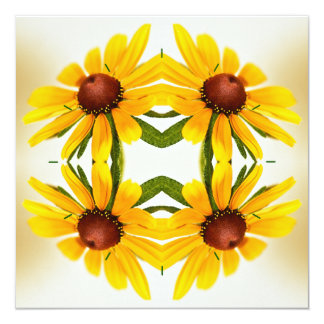 Black-Eyed Susan Kaleidoscope Pattern Card