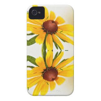 Black-Eyed Susan Kaleidoscope Pattern iPhone 4 Cover