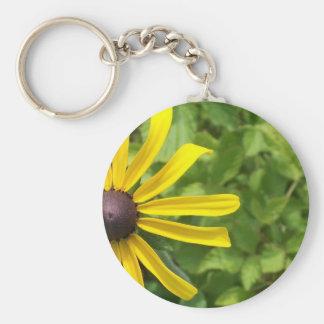 Black-eyed Susan Basic Round Button Keychain