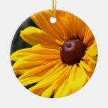 Black Eyed Susan Macro Flower Ornament