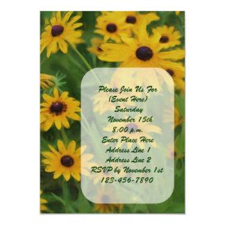 "Black Eyed Susan Painting Floral Invitation 5"" X 7"" Invitation Card"