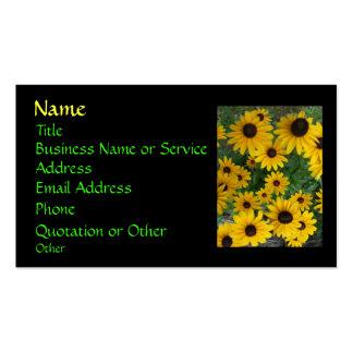 Black Eyed Susan Profile/Business Card