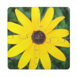 Black Eyed Susan Puzzle Coaster