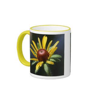 black-eyed-susan ringer ceramic mug