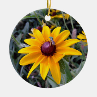 Black-Eyed Susan Round 2-Sided Photo Ornament