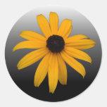 Black Eyed Susan Round Stickers