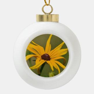 Black Eyed Susan Solitude Ceramic Ball Christmas Ornament