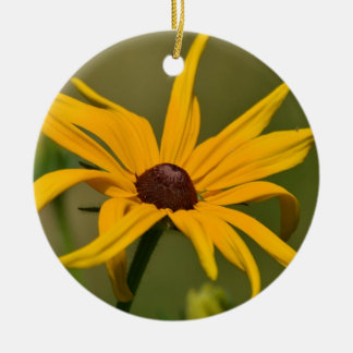 Black Eyed Susan Solitude Ceramic Ornament