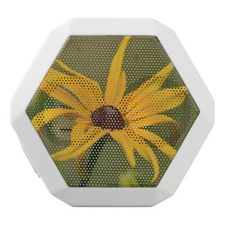 Black Eyed Susan Solitude White Bluetooth Speaker